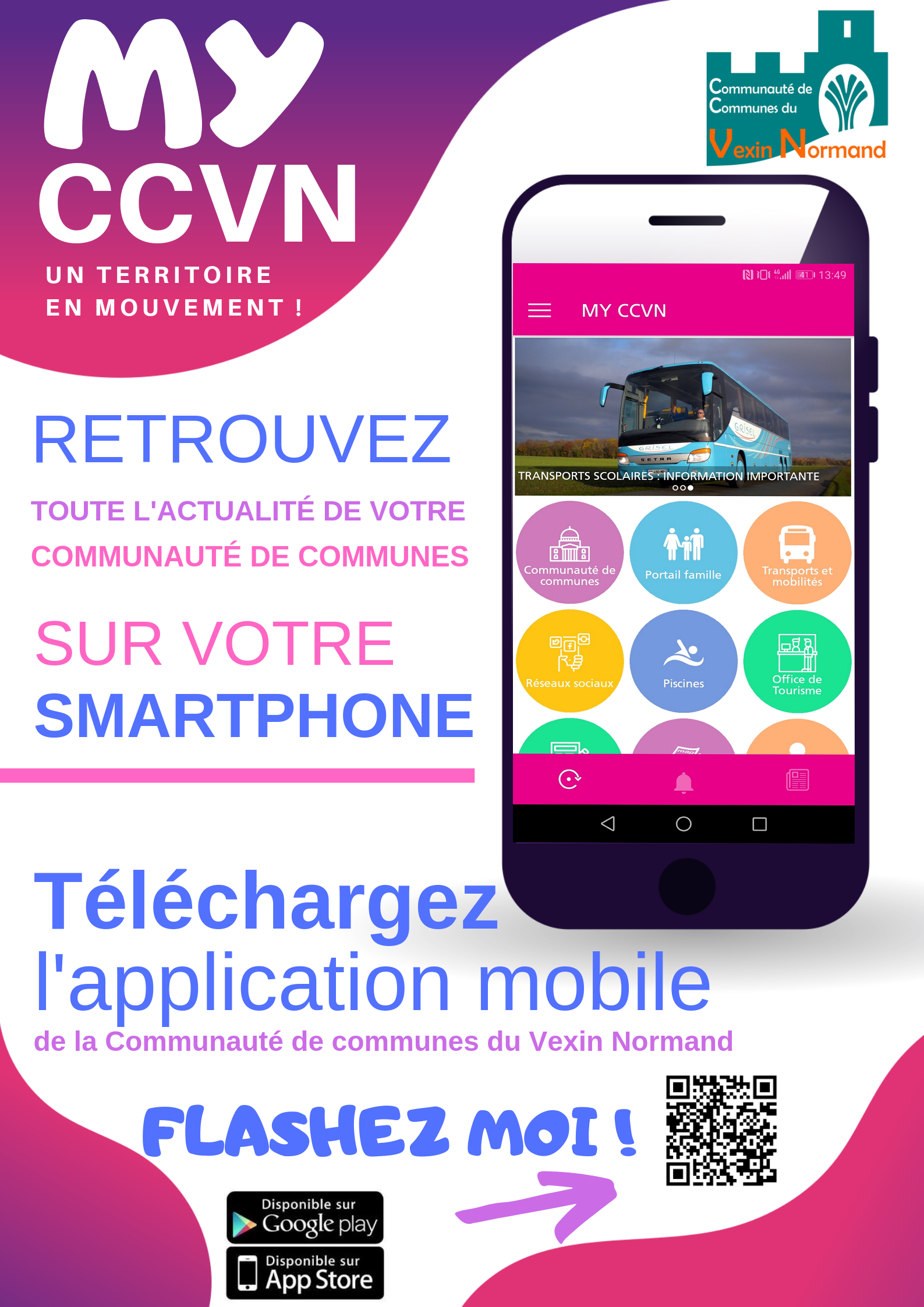 MY CCVN L'application mobile de la Communauté de communes du Vexin Normand est lancée !